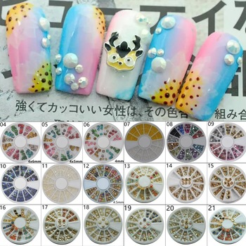 ZKO 1 Wheel Nail Art Rhinestone & Decoration For DIY Nails Art Accessory Fashion Decorations Beauty Tools, 27 Styles For Choose