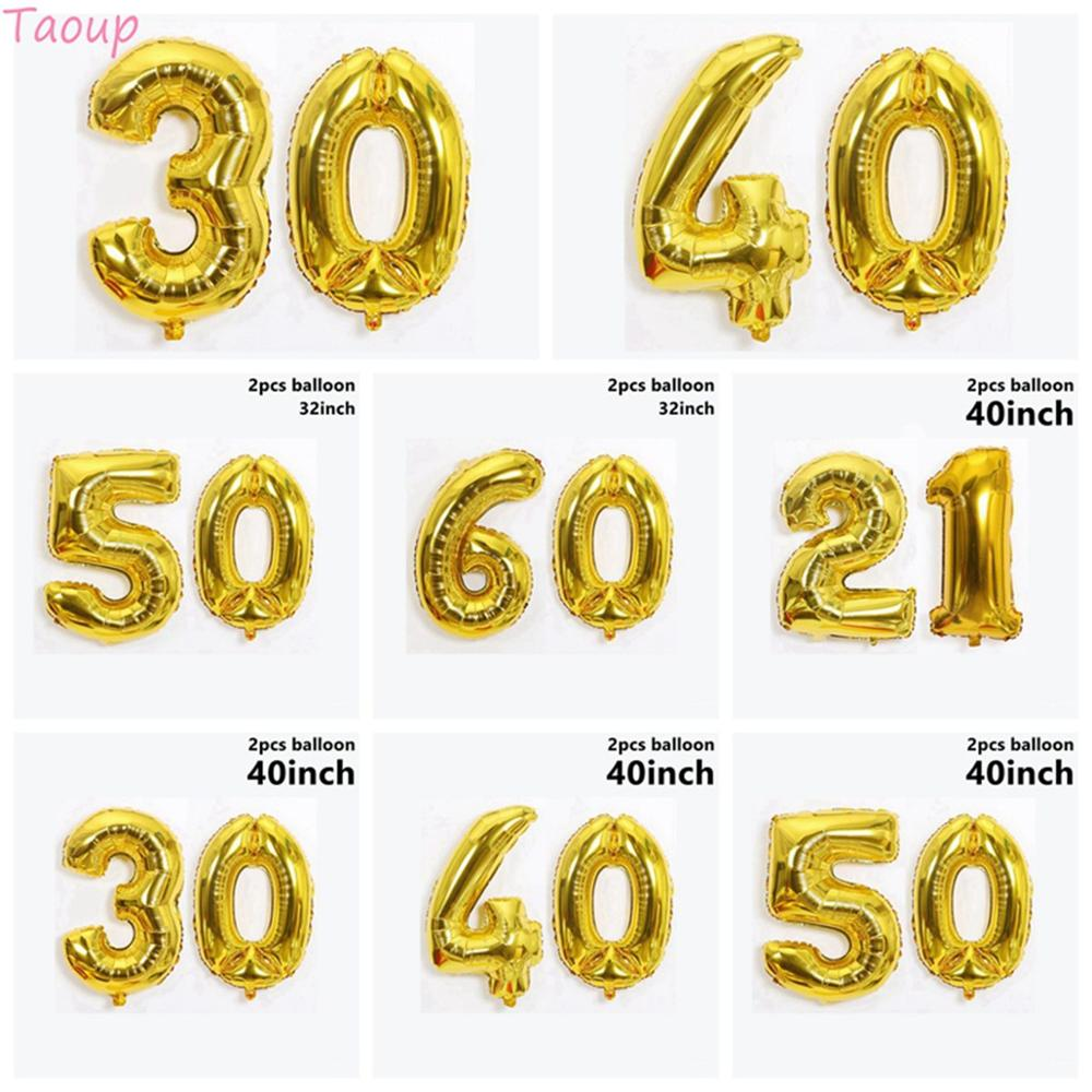 """34/"""" LARGE NUMBER FOIL BALLOONS 9 COLOURS AVAILABLE 21 30 40 50 60 70 80 90"""