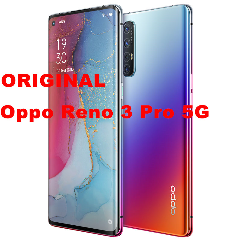 Oppo Reno 3-Pro 5G 256gb 12gbb 5G/GSM/WCDMA/LTE VOOC Game Turbogpu Turbo Octa Core In-Screen fingerprint recognition title=