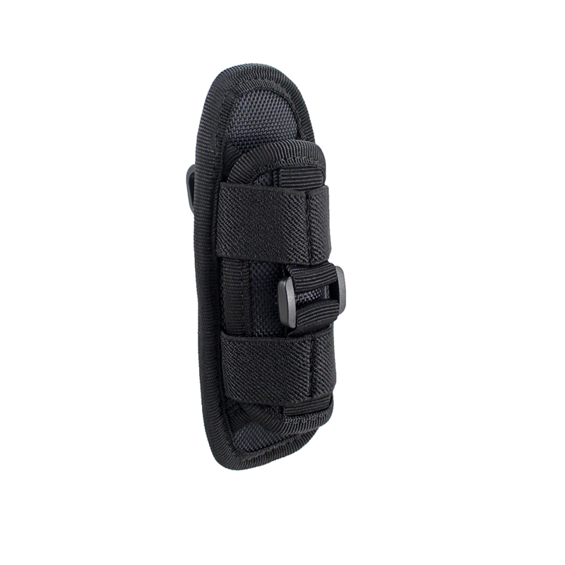 Details about  /360° Rotatable Nylon Flashlight Holster Holder Carry Belt Case Bag Pouch US