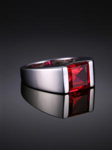 Ruby-Ring Wedding-Rings 925-Gemstones jewelry Created Jewpalace Silver Red Men for 925-Sterling-Silver
