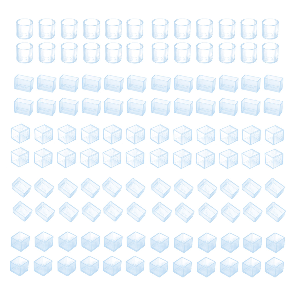 24Pcs Table Chair Leg Mat Rubber Caps Floor Protectors Cover Pads Furniture Foot Chair Leg Tips End Caps Covers Floor Protectors