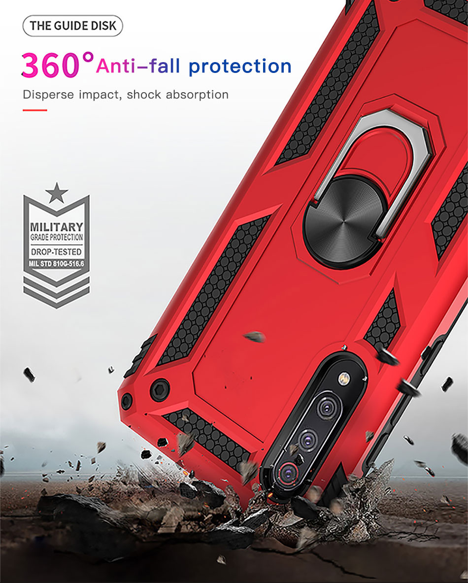 !ACCEZZ Magnetic Ring Phone Case For Xiaomi Redmi Note 7 Protection Back Cover Magnet Phone Holder For Redmi Note 7 Hard Shell (3)