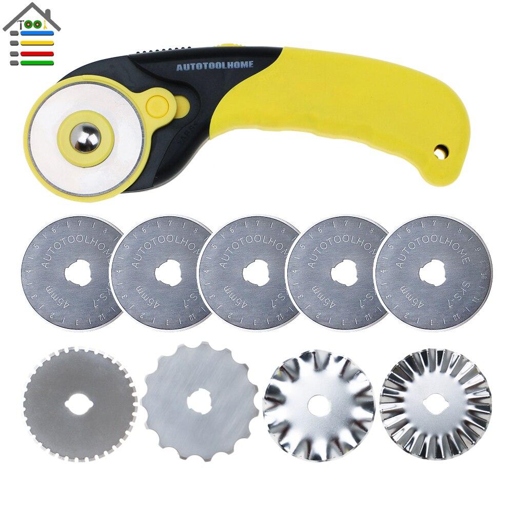 12pcs  45mm Rotary Cutter Blades w//Storage Case Circular Cutting B