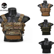 Airsoft Vest Chest-Rig Emersongear Micro Pouch Magazine Fight Combat MK3 EM2961 Chissis