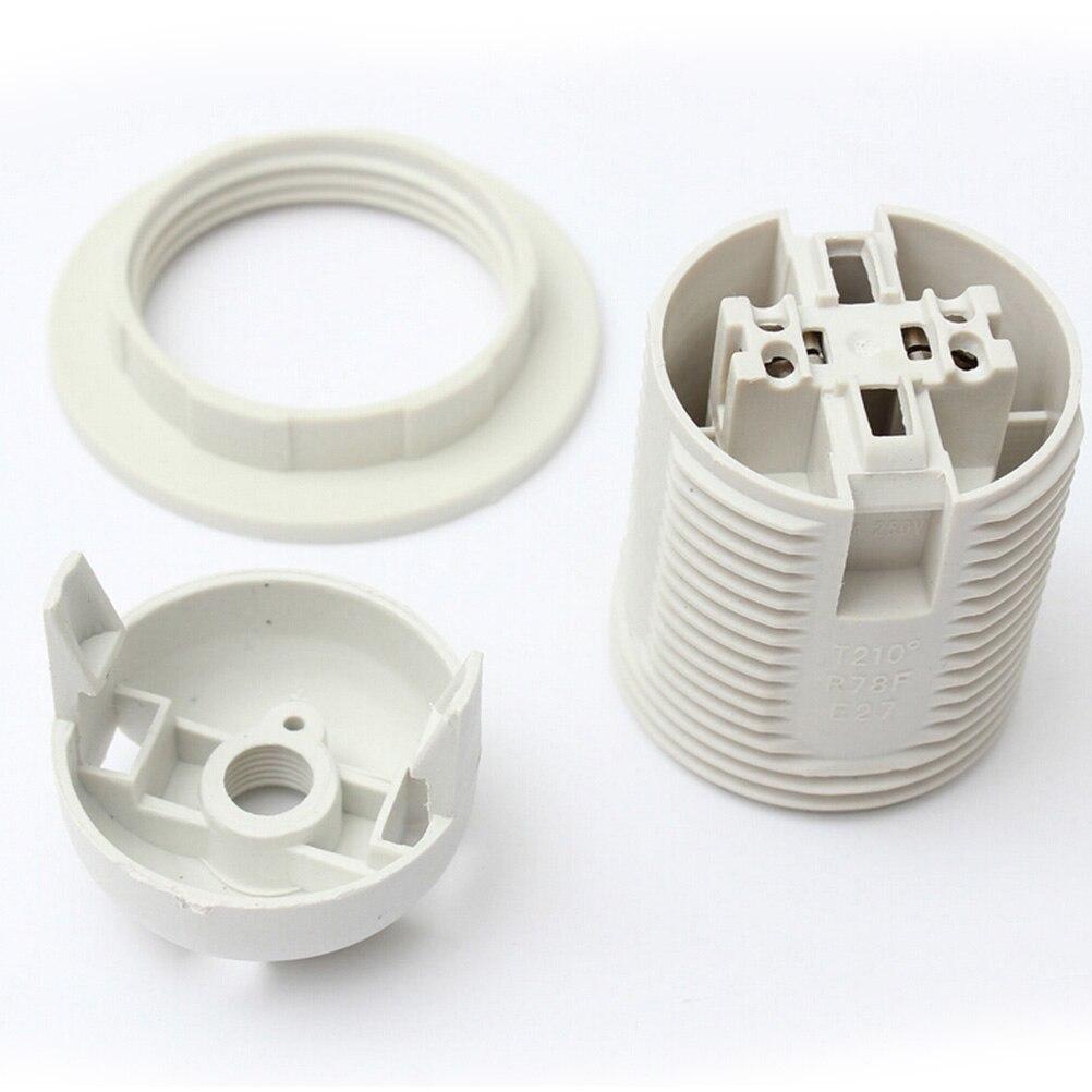 Screw ES E27 M10 Light Bulb Lamp Holder Pendant Socket Lampshade Collar RDUJ