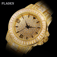 Дропшиппинг 2020 PLADEN Brilliance 3 Iced Out Rolexable_watch мужские часы Oyster Perpetual Datejust 18k Gold с бесплатной коробкой(Китай)