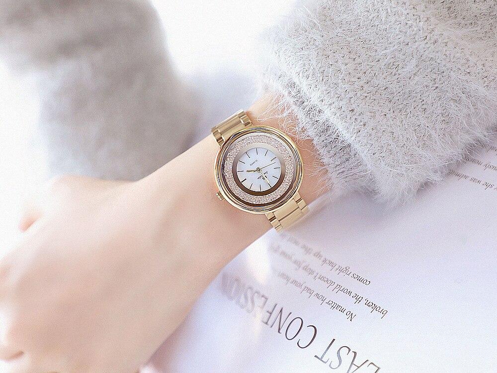 Klasyczny srebrny kobiet zegarki luksusowe pełna diament kobiety bransoletka zegarek damskie kryształ górski zegarek kwarcowy na co dzień zegarek zegarek damski -