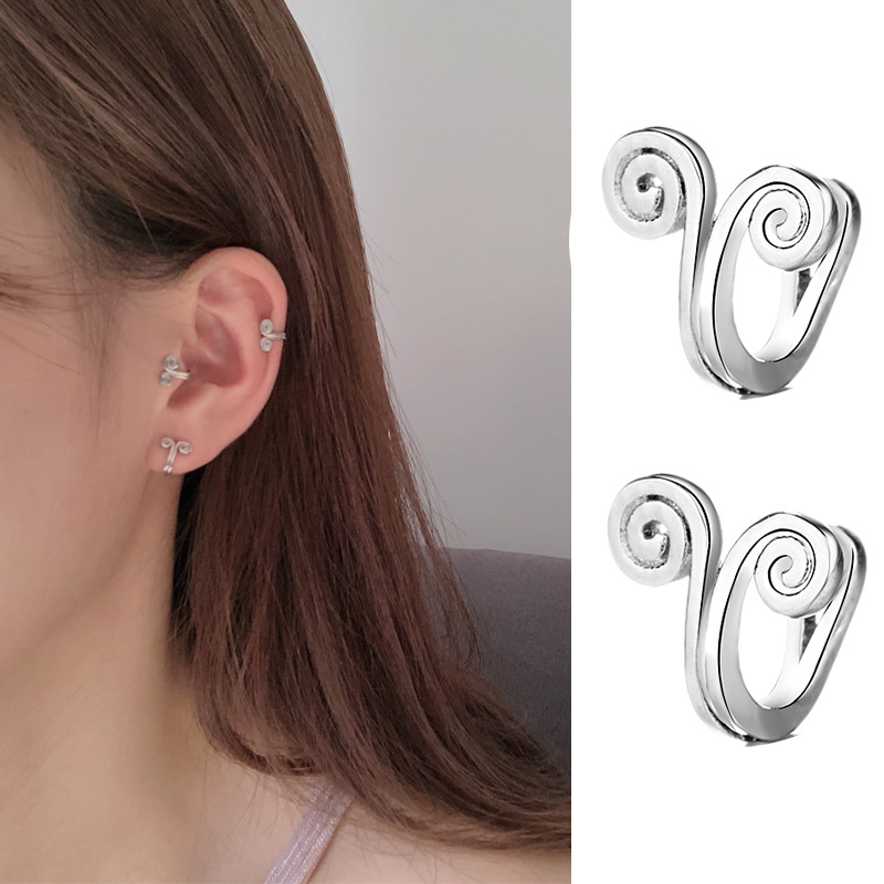Clip de boucle d/'oreille en cartilage spiralé Clous de manchette Tremella