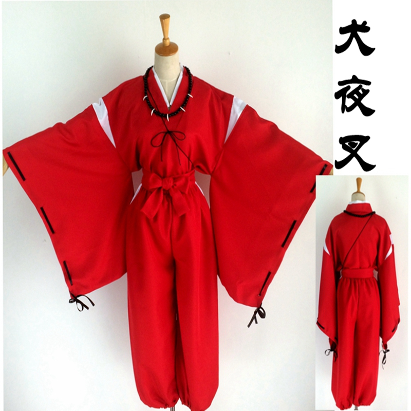 Inuyasha Sesshomaru Kimono Cosplay Costume Tailor Made Any Size!