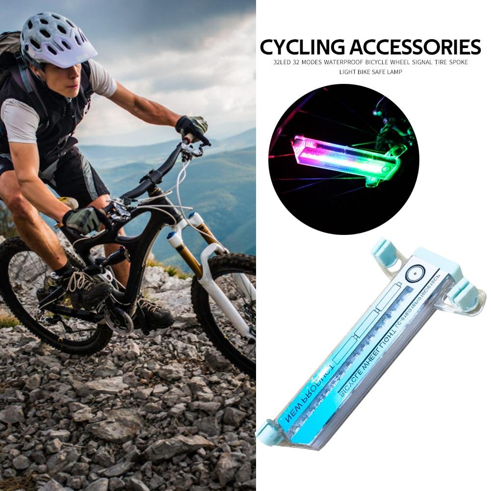 32LED 32 Modes Waterproof Bicycle Wheel Signal Tire Spoke Light Bike Lamp ✾