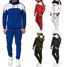 Sweatshirt Pants Outfit Jacket Zipper Hoodie Two-Pieces-Suit Sports Fashion Men Men's