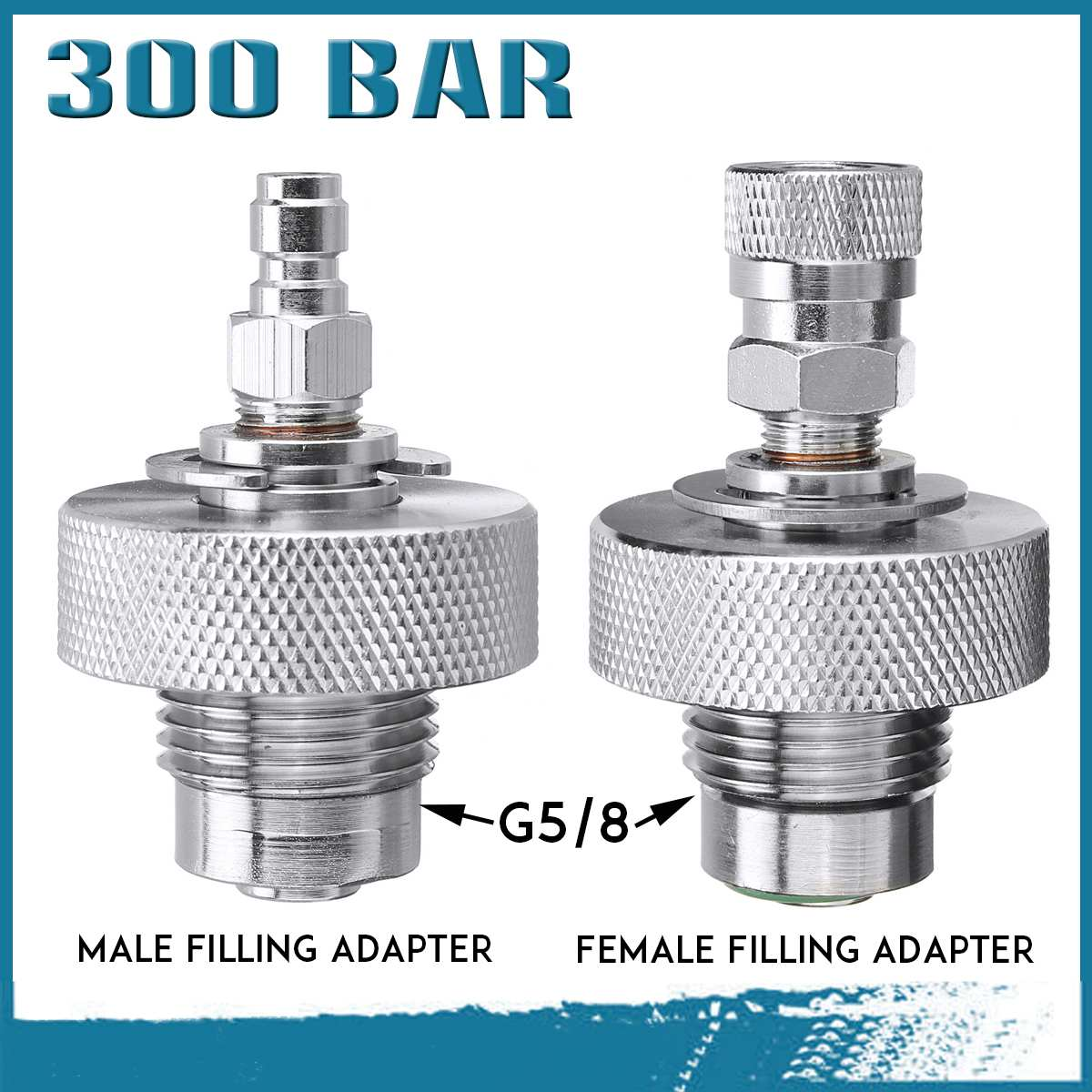 Stainless Steel Replacement For SUBA DIN ylinder 232//300 Bar G1//4 G5//8