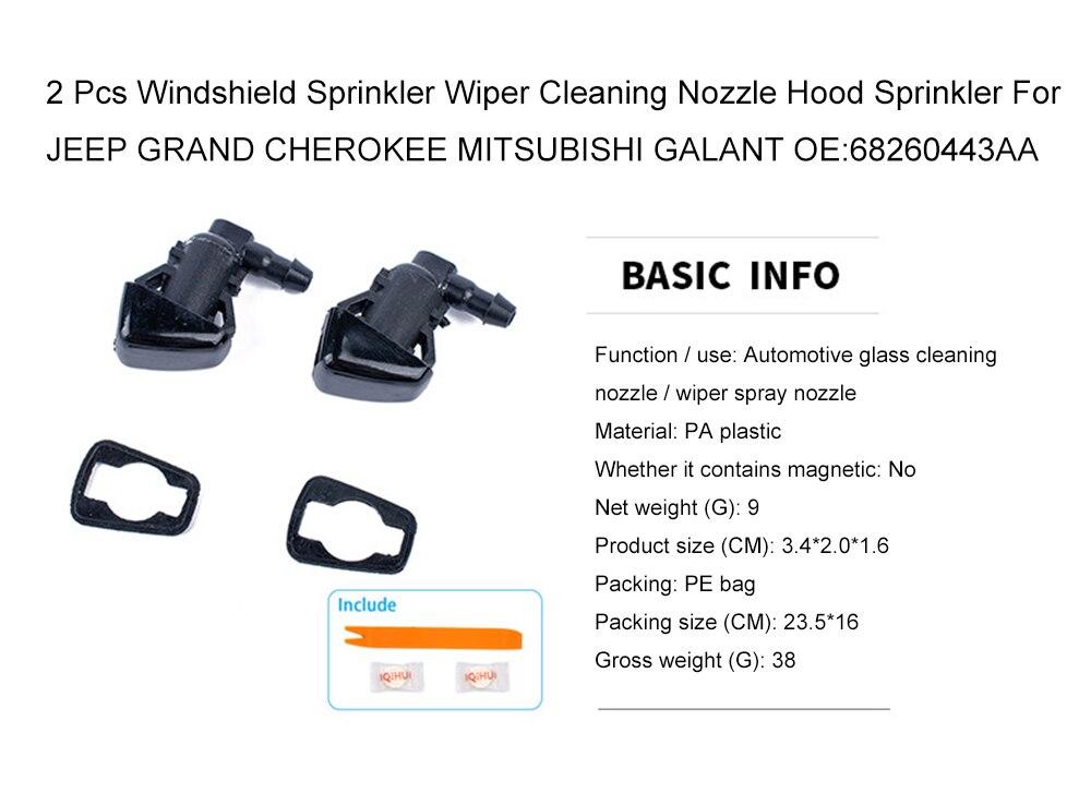 Car glass wiper 2 PCS Windshield Washer Wiper Jet Water Spray Nozzle 68260443AA for Jeep Grand Cherokee 2005-2013,Car glass wiper