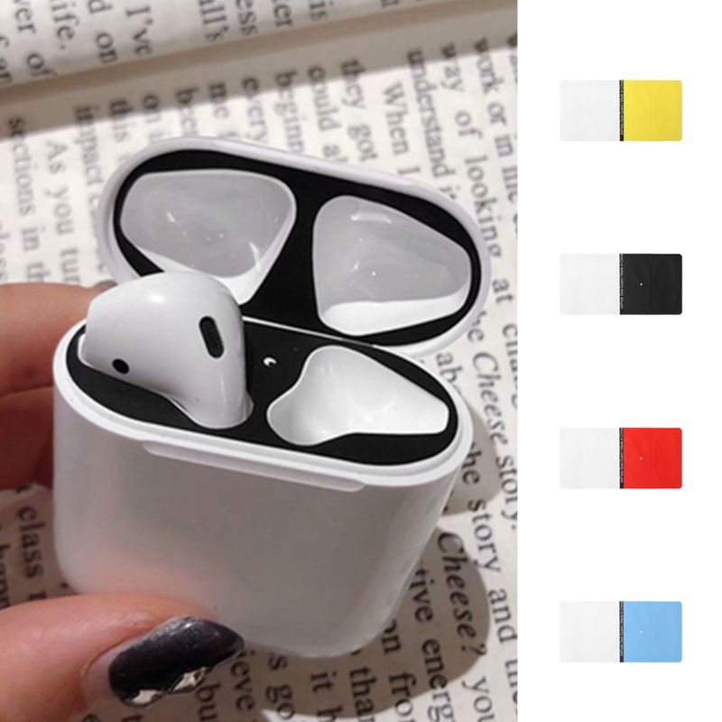 Sticker Airpods Cover-Protection Fashion for 1/2-Charging-Box 2-Pairs Dust-Guard title=