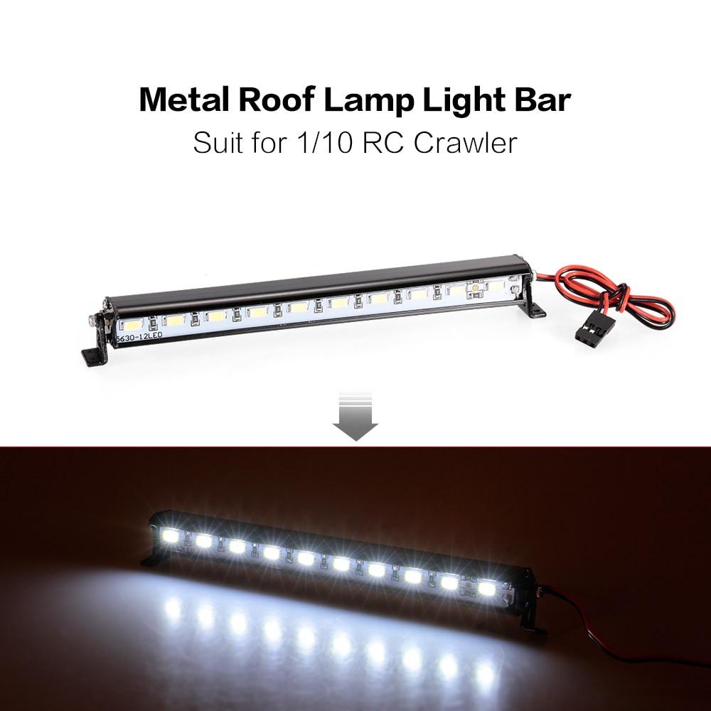 Metal Roof Lamp LED Light Bar for RC Car 110 RC Crawler Traxxas Trx-4 SCX10 90027 SCX10 II 90046 RC4WD D90 Car Truck Part (6)