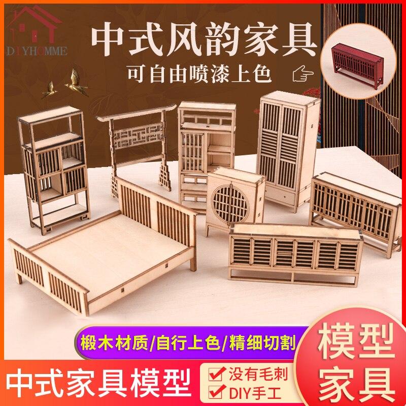 1:25 Mobili per la casa delle bambole decorativi scaffale rotondo per il