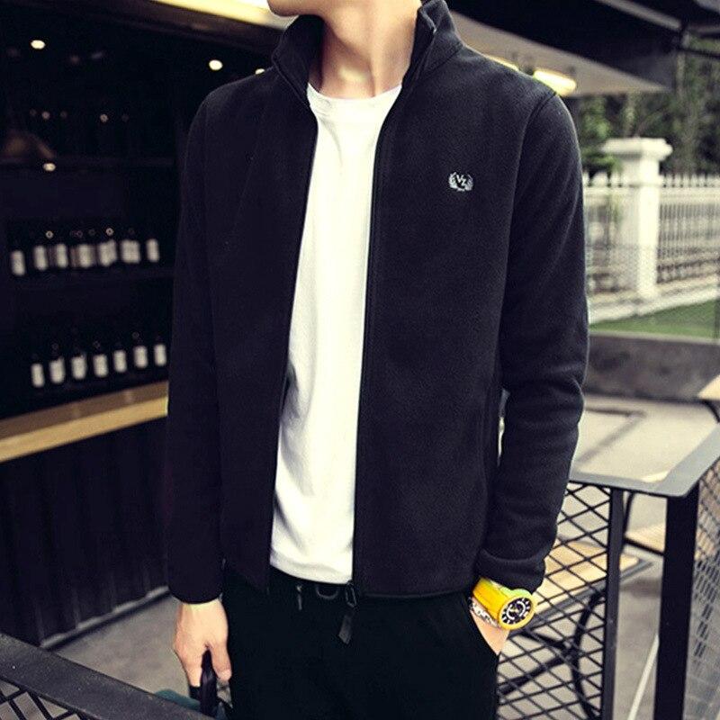 Wholesale fleece men/'s fleece jacket jacket outdoor jacket inner liner spring and autumn winter double-sided thick jacket