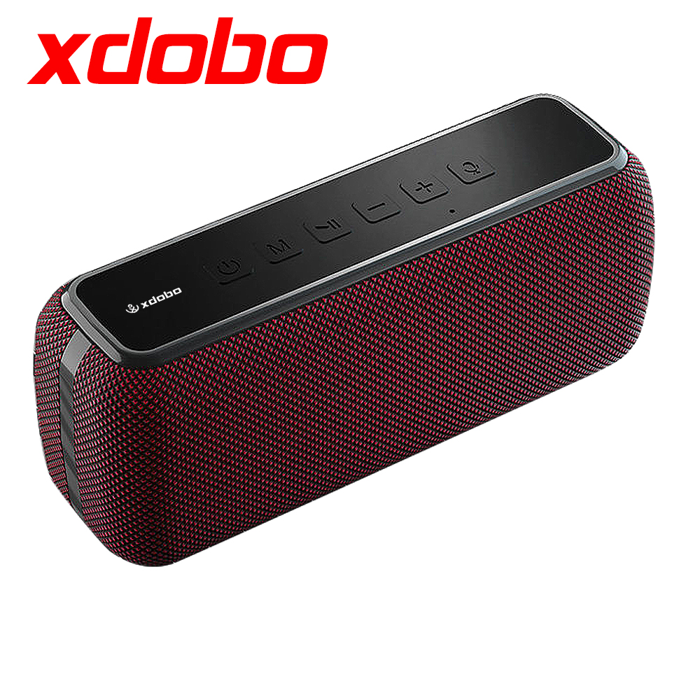 XDOBO 60W Wireless Bluetooth Speaker IPX5 Waterproof TWS 15H Playing Time Voice Assistant Extra Bass Subwoofer Speaker