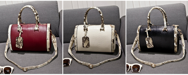 Super Quality Snakeskin Leather Women Handbag Shoulder