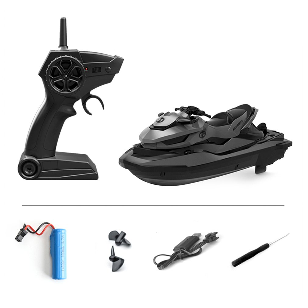 Apparel - 2.4G 4CH Mini RC High Speed Waverunner Motorcycle Model with Light Kids Robot RC Motorbike Toys