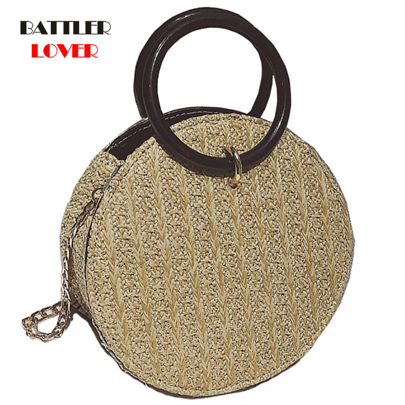 2019 Womens Vintage Beach Straw Bag Ladies Handmade Woven Rattan Messenger Handbag Summer Bali Bohemian Crossbody Shoulder Bag