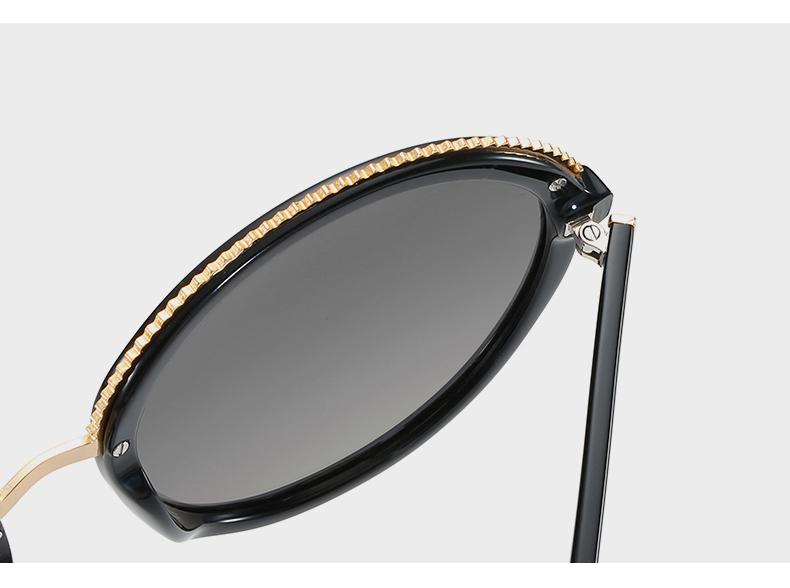 Women Sunglasses Frame Glasses Polariod Lens UV400 Polarized Sunglasses Women Fashion Round Frame Eyewear Glasses (31)