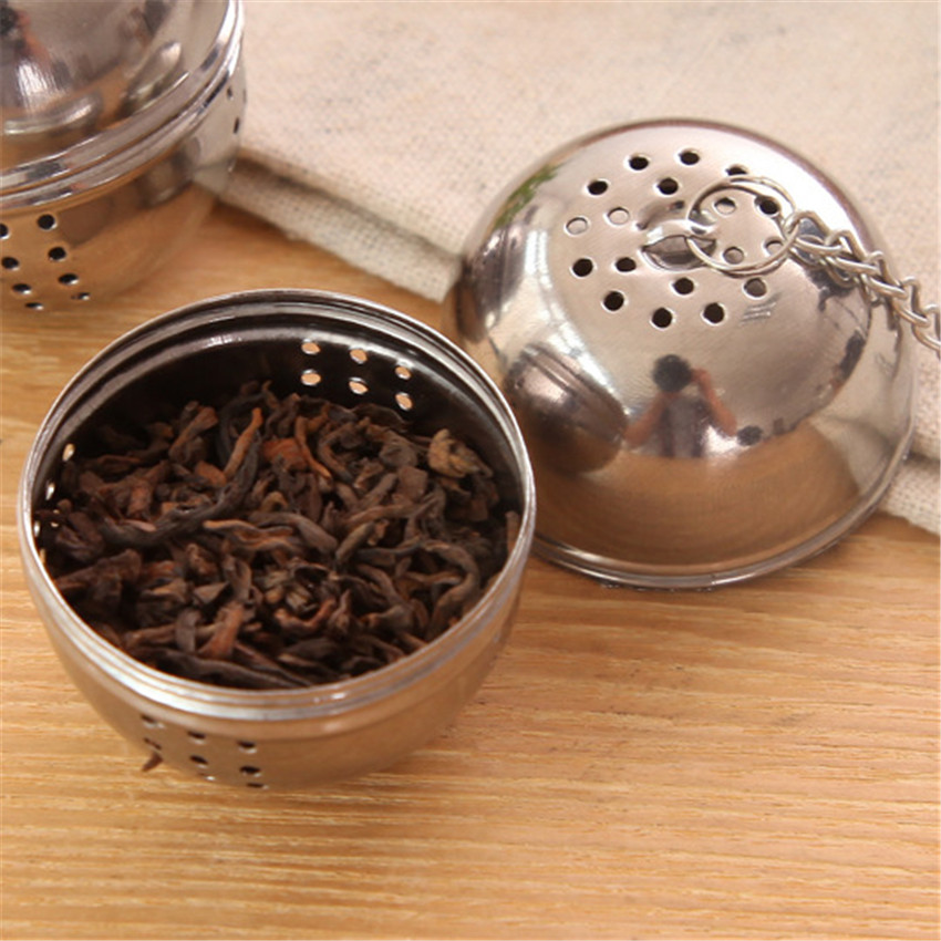 New-Stainless-Steel-Ball-Tea-Infuser-Mesh-Filter-Strainer-w-hook-Loose-Tea-Leaf-Spice-Ball