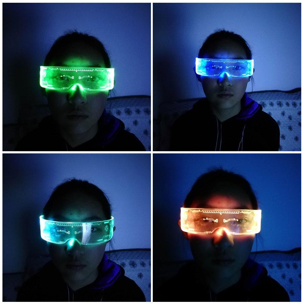 EL Glow glasses LED light up party sunglasses nightclub rave  shade cool glasses