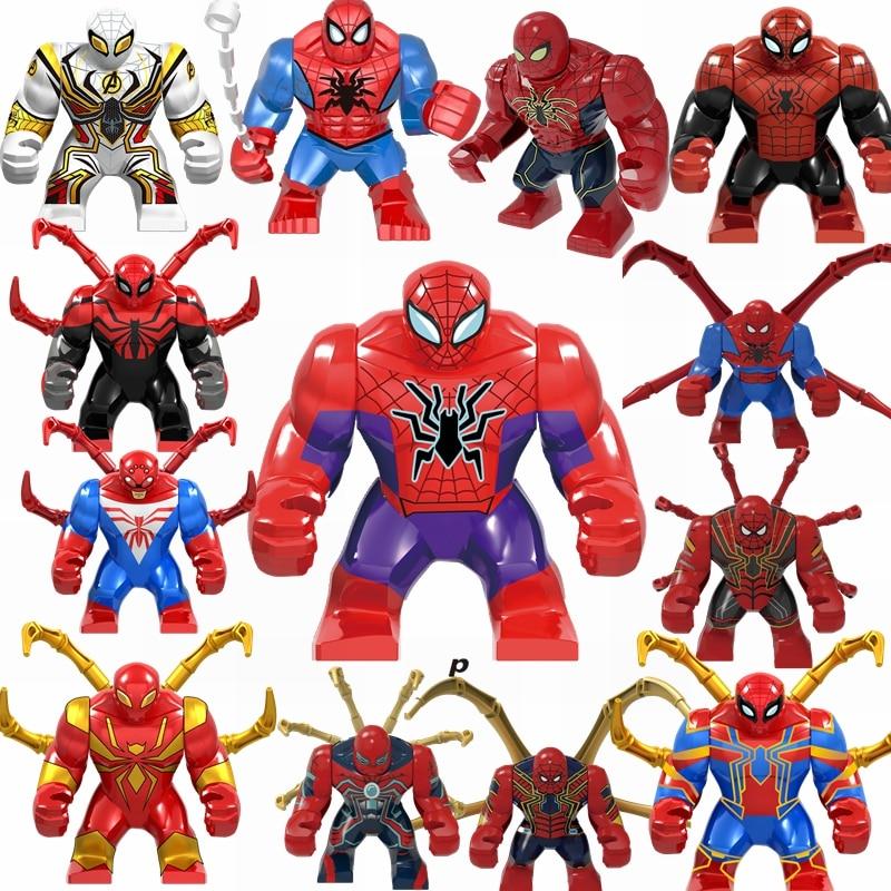 Marvel Spiderman Toys & Hobbies Building Blocks Ultimate Battle Spiderman Avengers Iron Spiderman Compatible Marvel Children Toy