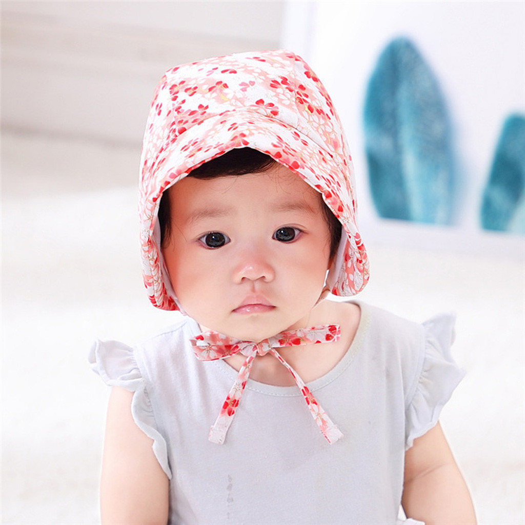 Baby printed hat sun visor basin hat princess court hat  Turban Hat Toddler Photography Props Newborn  Cap Baby Accessories