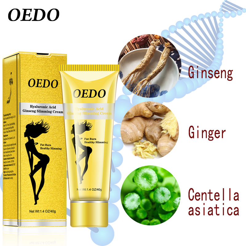 OEDO Hyaluronic Acid Ginseng Slimming Cream Reduce Cellulite Lose Weight Burning Fat Health Care Cream Body Skin Whitening Cream