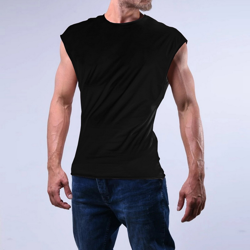 Classic Vest Undershirts for Mens Boys Youth Slim Fit Sweat Shirt