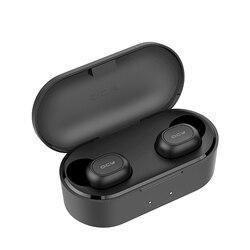 QCY QS2 TWS Mini Dual V5.0 Bluetooth наушники настоящие беспроводные гарнитуры 3D стерео звук наушники двойной микрофон с зарядным устройством