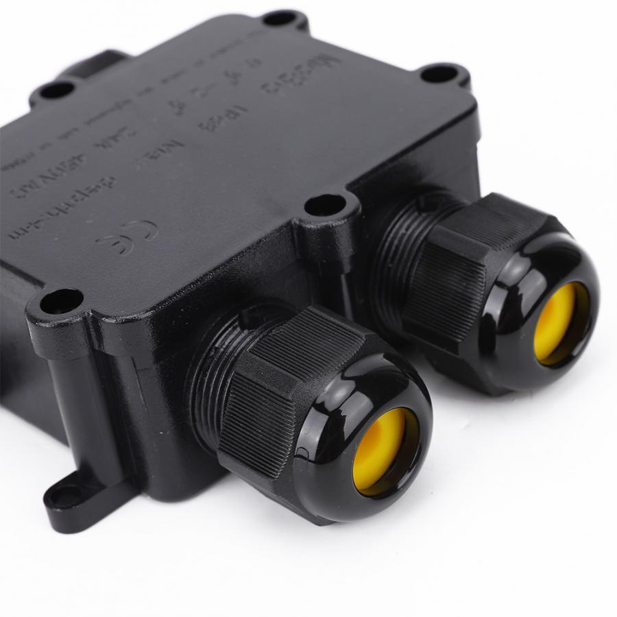Fuentes Caja de Empalme etc Pl/ástico Exterior Resistente al Agua IP68 Conector de Cable Tipo H de 4 V/ías M686 Buen Sellado Cable Alimentaci/ón El/éctrica Externa Cajas Terminales para Farolas