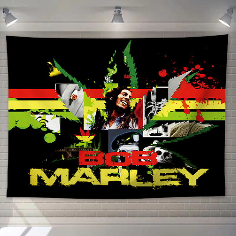 Tenture Rastafari Avec bob Marley rasta | Rasta-Lion
