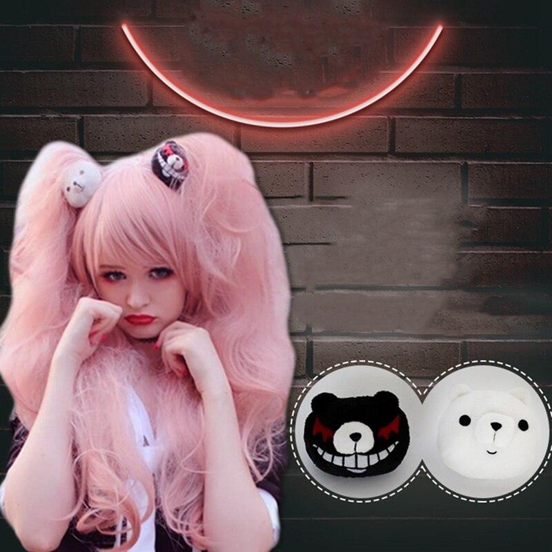 2* Dangan Ronpa Danganronpa Enoshima Junko Mono Kuma Bear Cos Hairpin Hair Clip