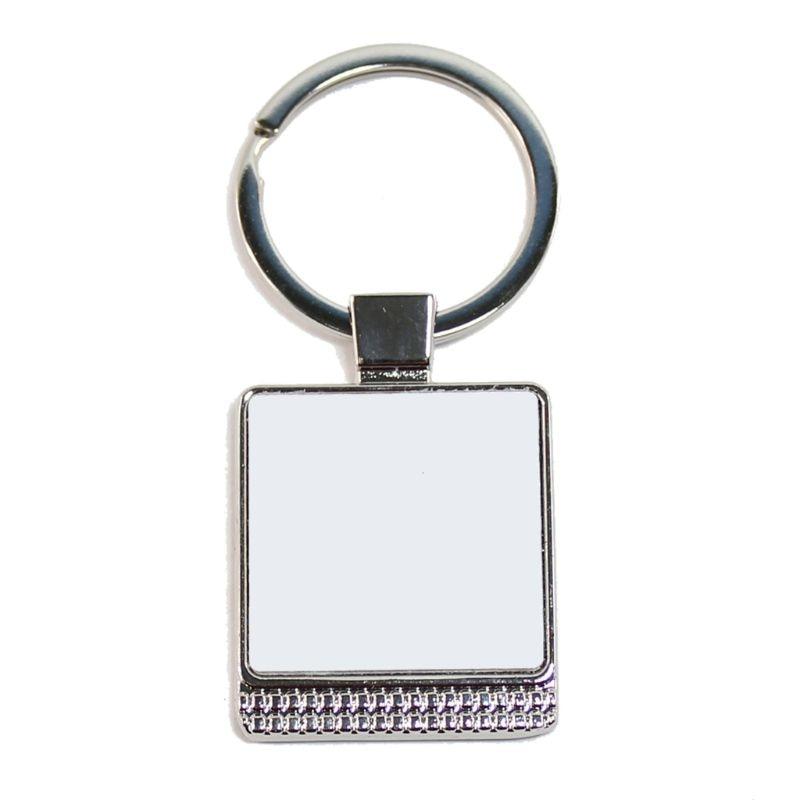 AQWJ 10PCS Sublimation Blanks Keychains,Metal Rectangle Shape Blank Key Rings for Heat Press Sublimation Custom Personalised Sublimation Photo