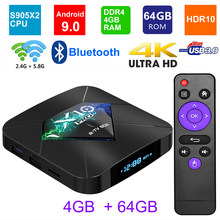 X10 Pro Android 9,0 Smart tv BOX S905X2 DDR 4 GB 32GB 64GB 2,4G 5GHz Wifi Поддержка USB3.0 BT4.0 4K 3D Netflix Android ТВ-плеер(Китай)