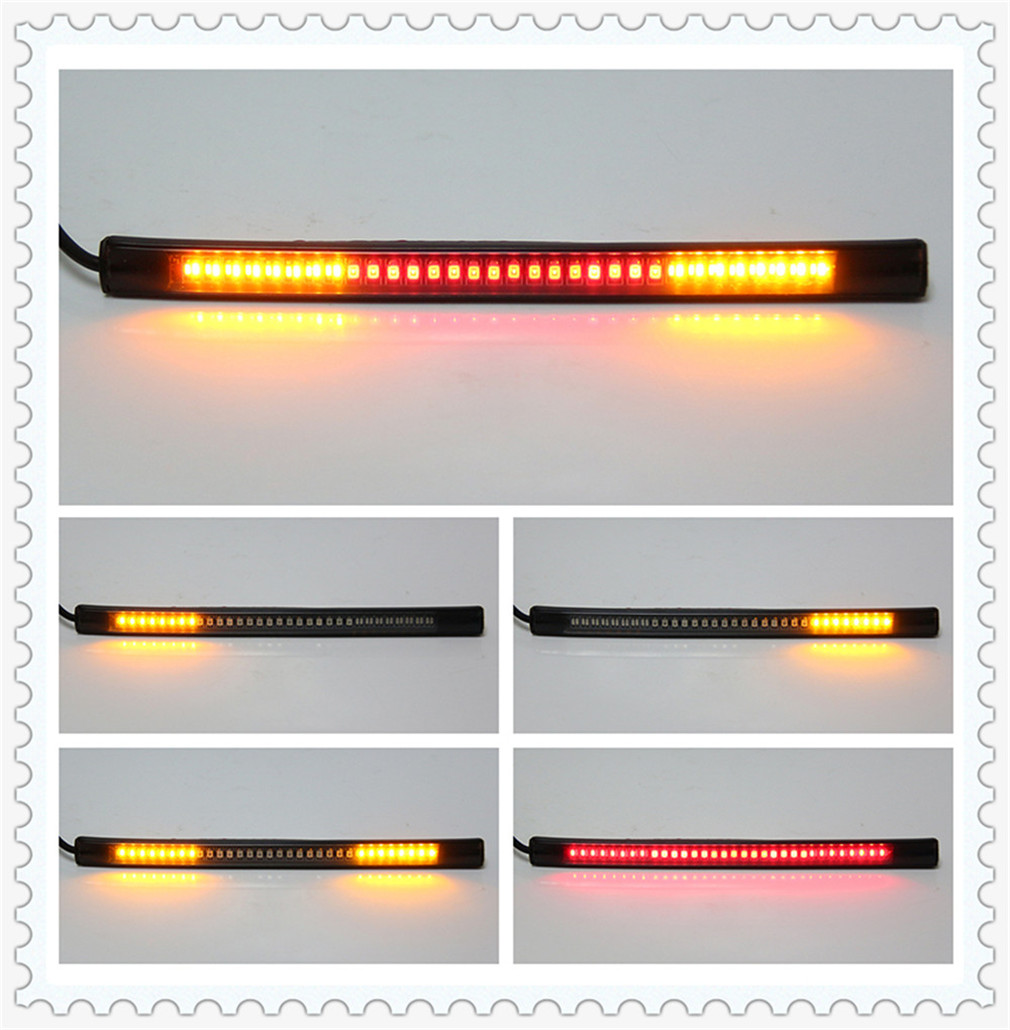 Motorcycle light with tail brake stop turn signal LED red amber for Aprilia DORSODURO 1200 750 FALCO SL1000