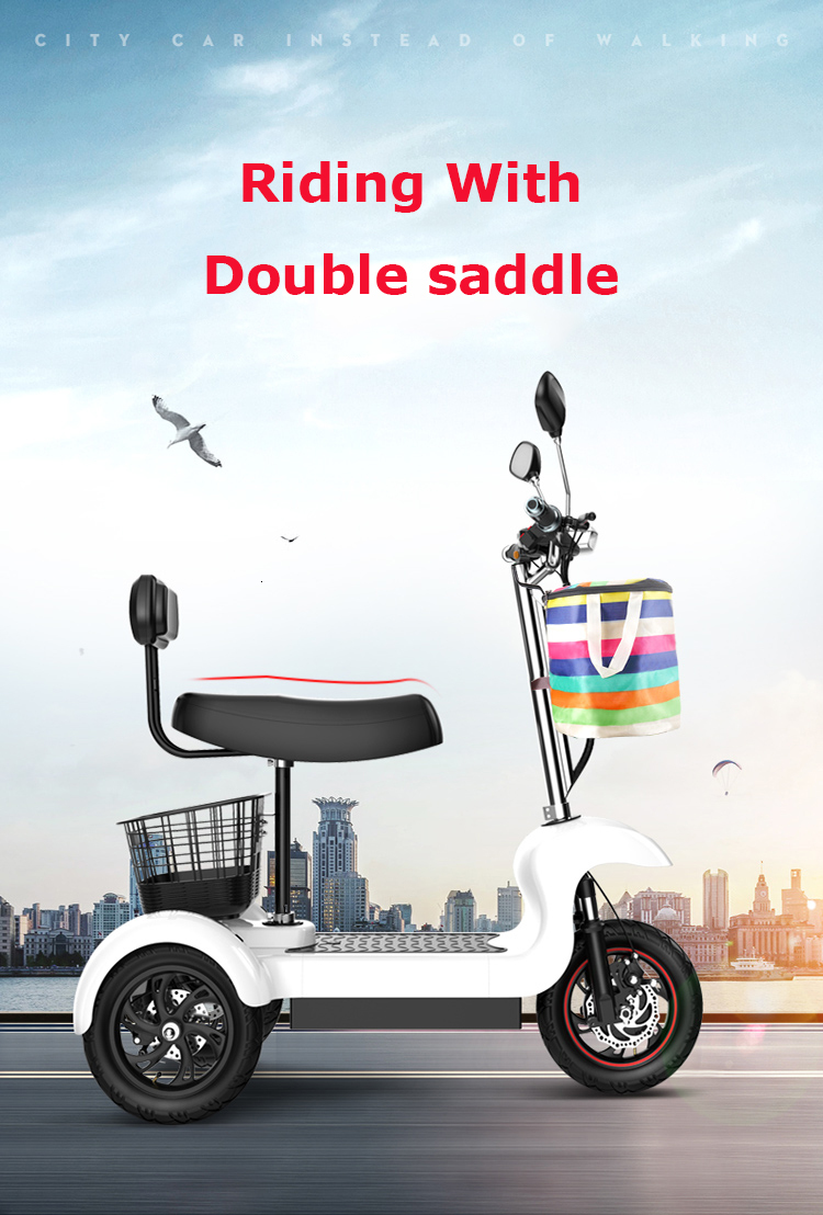 Daibot Electric Tricycle Bike 3 Wheels Electric Scooters Single Motor 500W 48V WhiteBlack Electric Scooter With Seat Adults  (11)