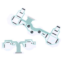 Pcb-Contact-Pad Ribbon Repair-Parts Ps3-Controller Flex-Cable Replacement for Circuit-Board