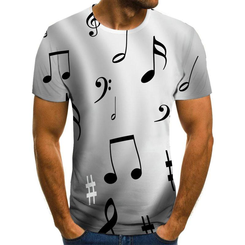 2020 new T-shirt men's music symbol T-shirt 3d guitar T-shirt shirt printed Gothic anime clothing short-sleeved T-shirt 110-6XL