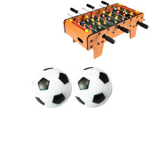 Football-Balls Soccer-Table Black White 2pcs 32mm Environmentally-Friendly Resin And