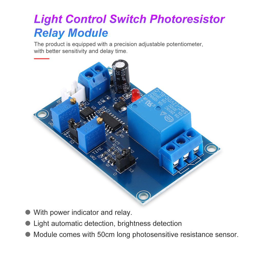 Automatischer 12V XH M131 Lichtschalter Fotowiderstand Relaismodul Sensor