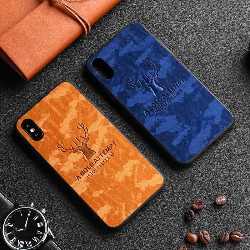 Cloth Texture Deer Case For Xiaomi Redmi Note 7 5 6 Pro Case Silicone Cover For Xiaomi Redmi 7 7A 6A S2 Y2 K20 K20Pro Case Coque