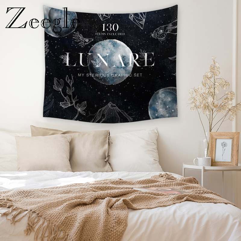 Zeegle Creative Wall Hanging Tapestry Bedroom Account Bedside Yoga Mat Picnic Blanket Beach Towel Home Decoration Tapestry