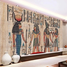 Photo-Wallpapers Living-Room Mural Wooden-Board Hand-Painted-Egypt Bedroom Custom 3d