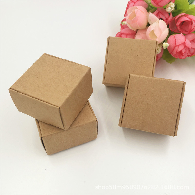 Black Packaging Jewelry-Box Soap-Box Cardboard Craft-Paper Handmade Vintage White 5pcs title=
