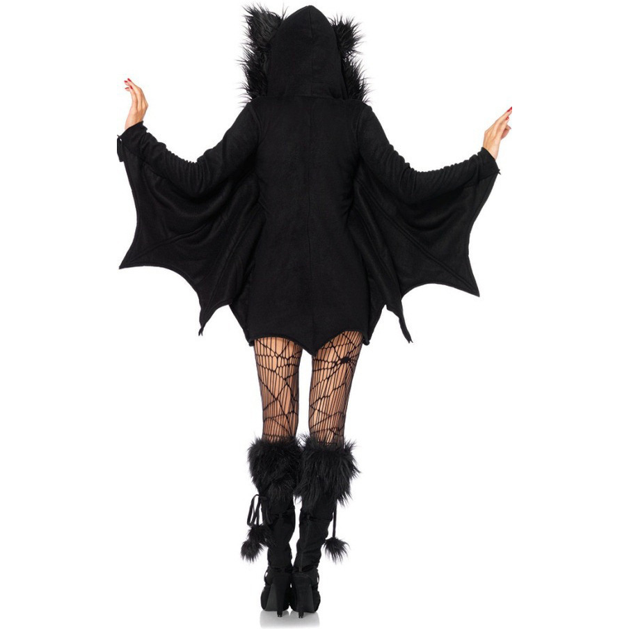 New-Adult-Children-Animal-Cosplay-Cute-Bat-Costume-Kids-Halloween-Costumes-For-Girls-Black-Jumpsuit-Connect (2)